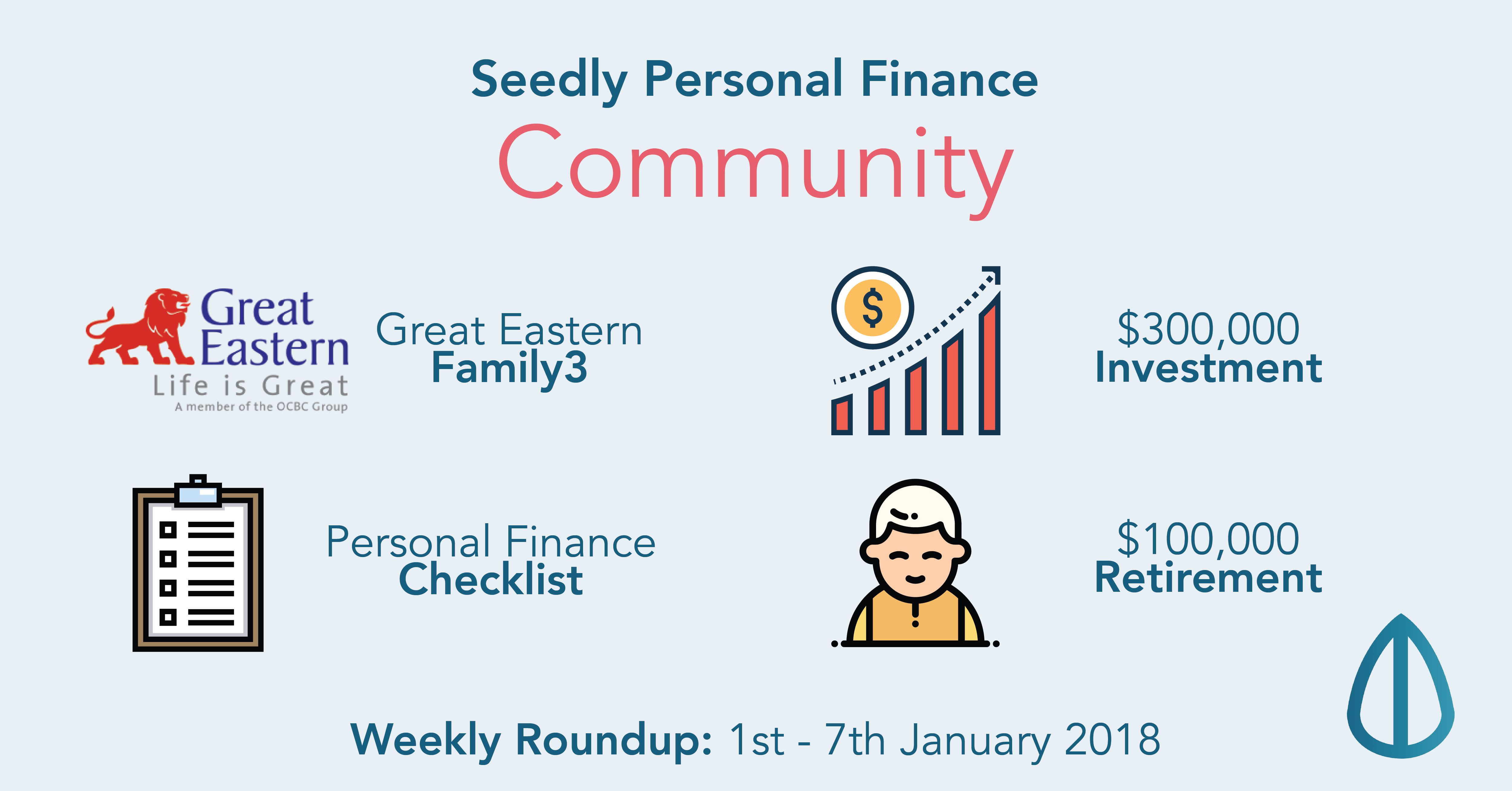 This Week On Seedly: Great Eastern Family3, Personal Finance Checklist, Retirement with $100,000