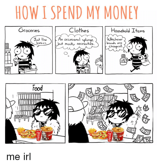 How I Spend My Money On Food