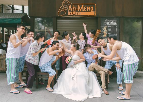 Kopitiam theme wedding