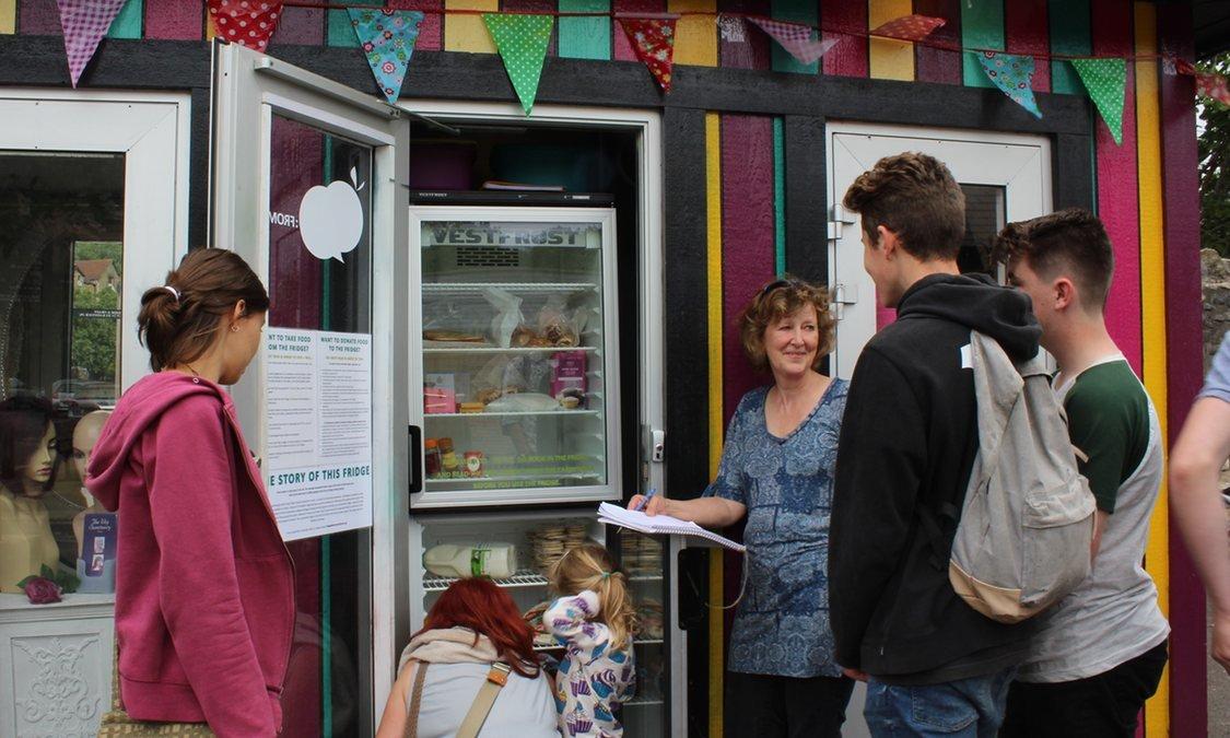 community fridge reduce food waste save money
