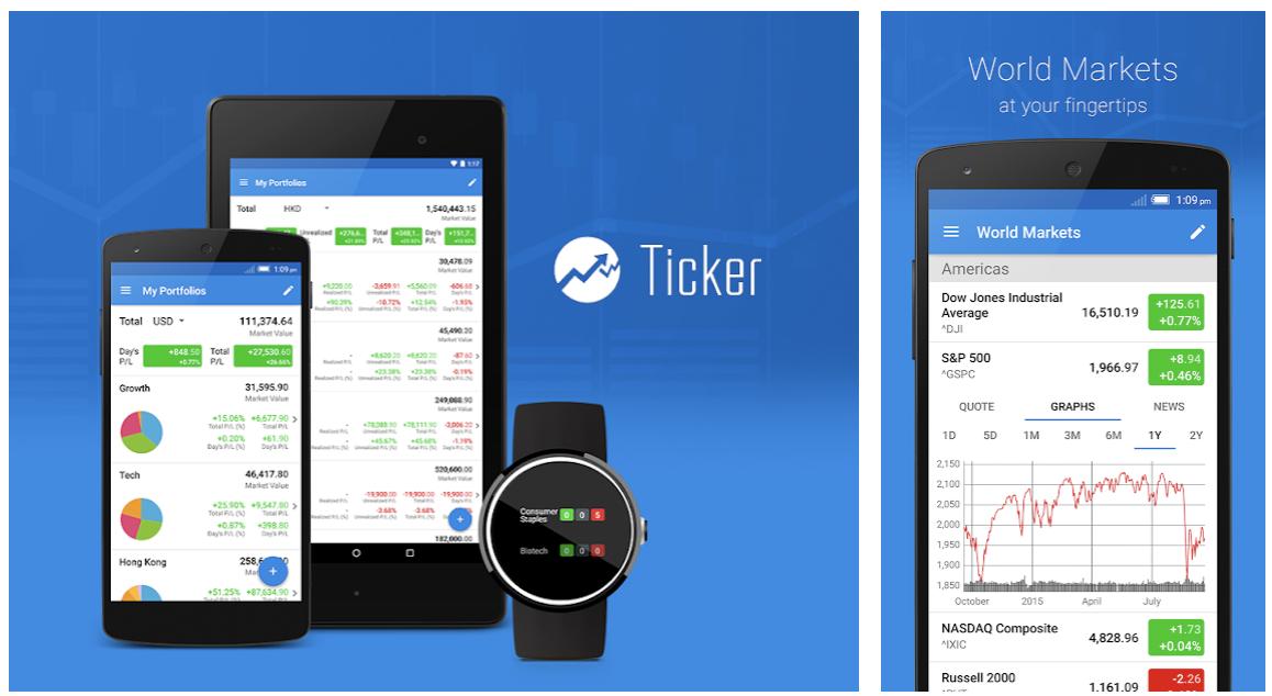 Best stocks tracking mobile app Ticker