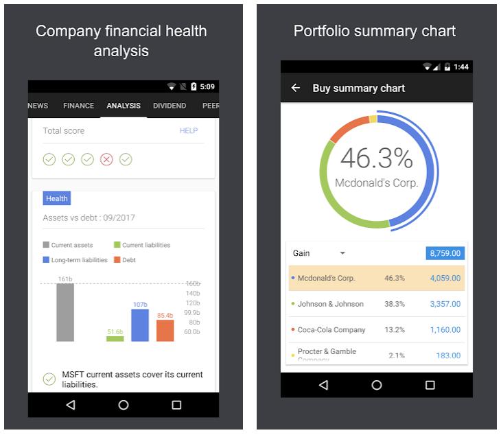 Best stocks tracking mobile app JStock