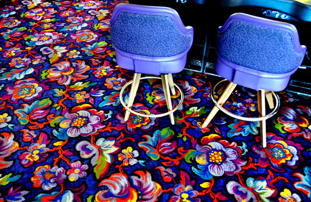 Casino carpets and chairs