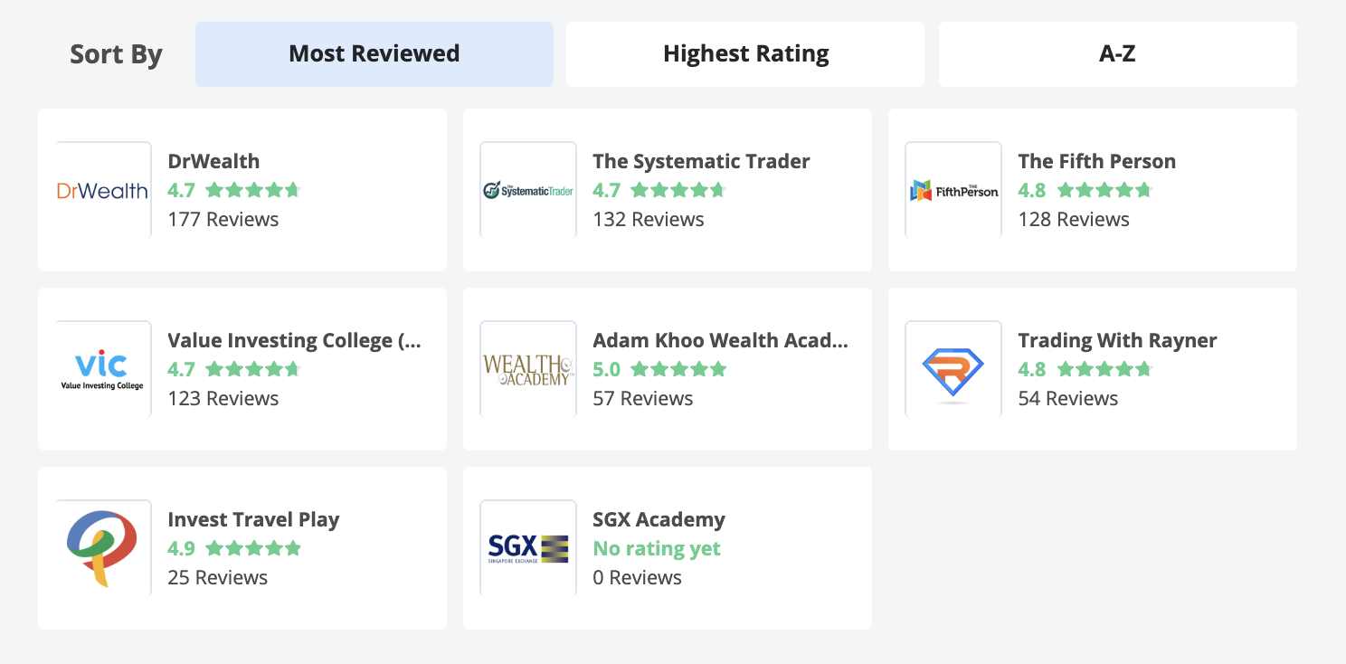 Investment Course Reviews