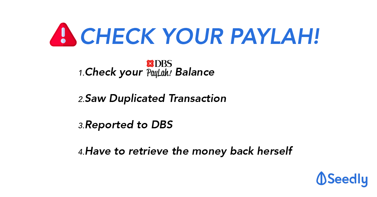 PSA: Check Your Paylah! Wallet Balance NOW