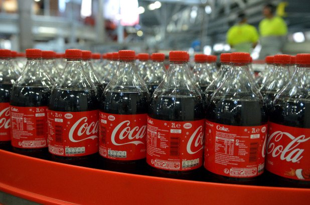 Coca Cola Bottles In A Factory