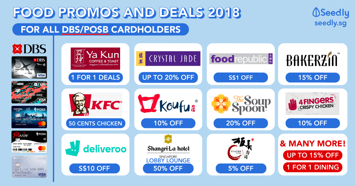 Food and Dining Promotions for DBS/POSB Cardholders in Singapore