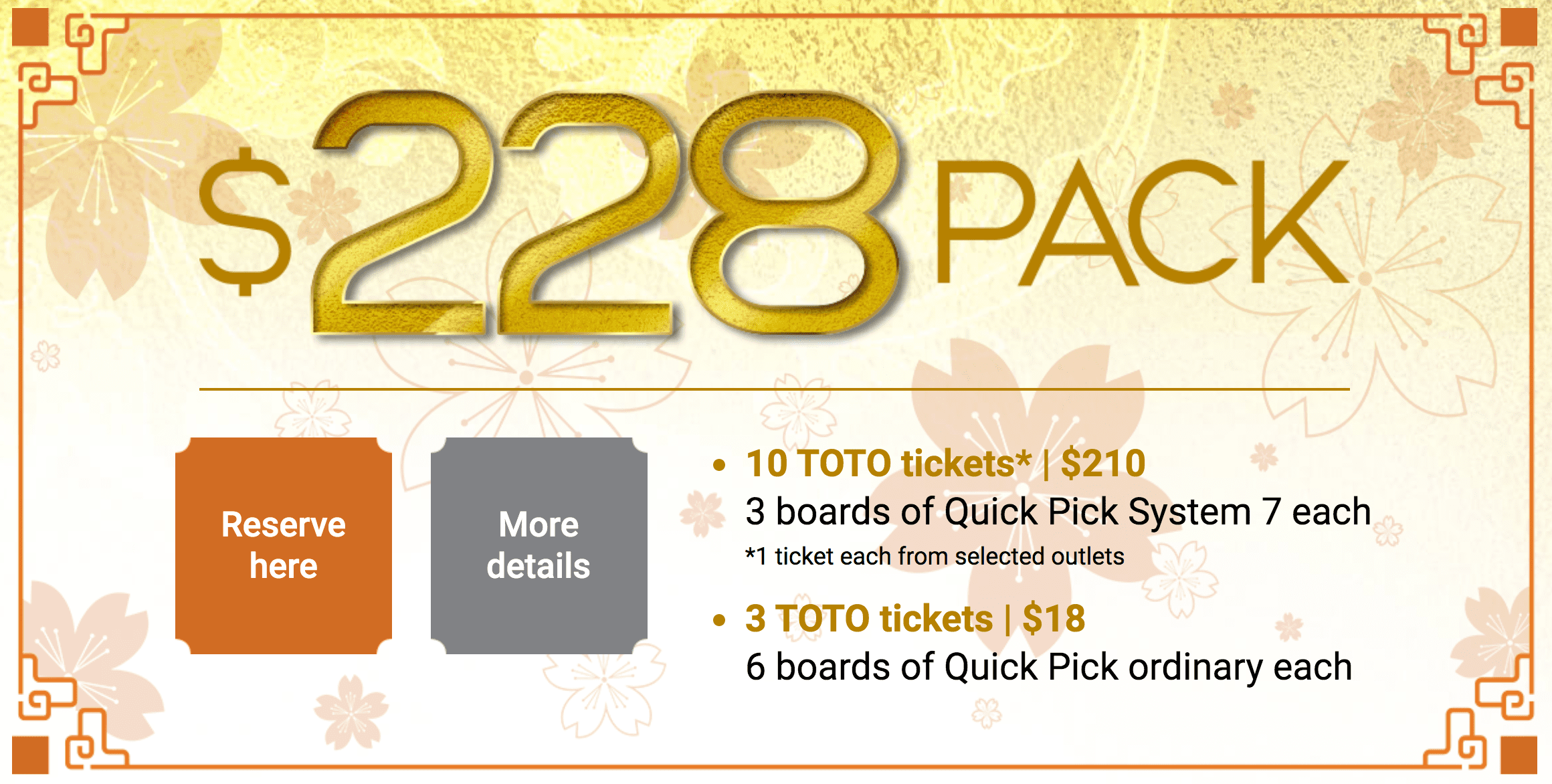 Hong Bao (Ang Bao) Draw 2020, $228 package