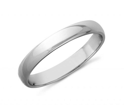 14K White Gold 3mm Wedding Band