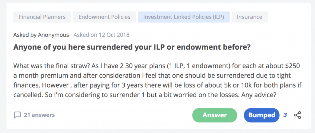 Surrender ILP Insurance In Singapore