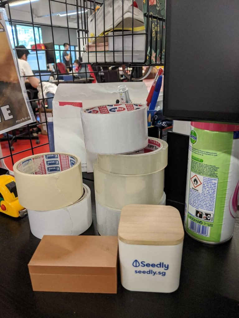 Rolls of Tape on Seedly Editor's Table