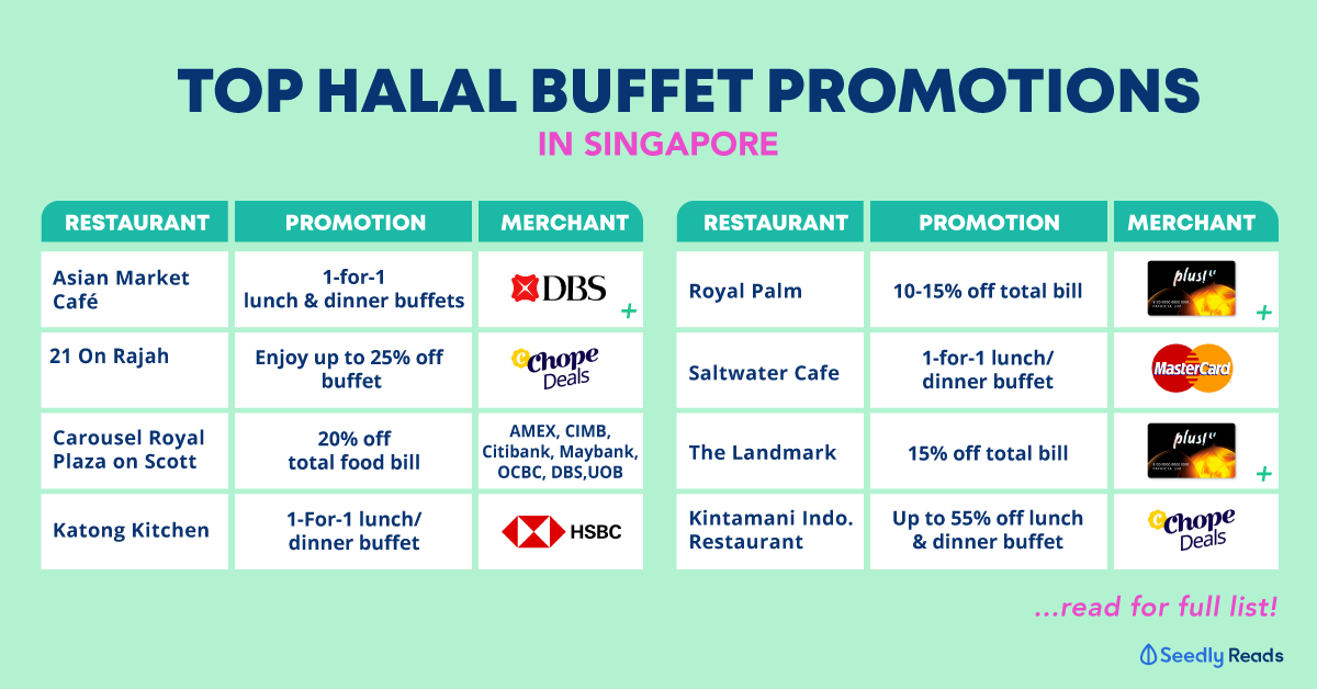 top halal buffet promos in Singapore