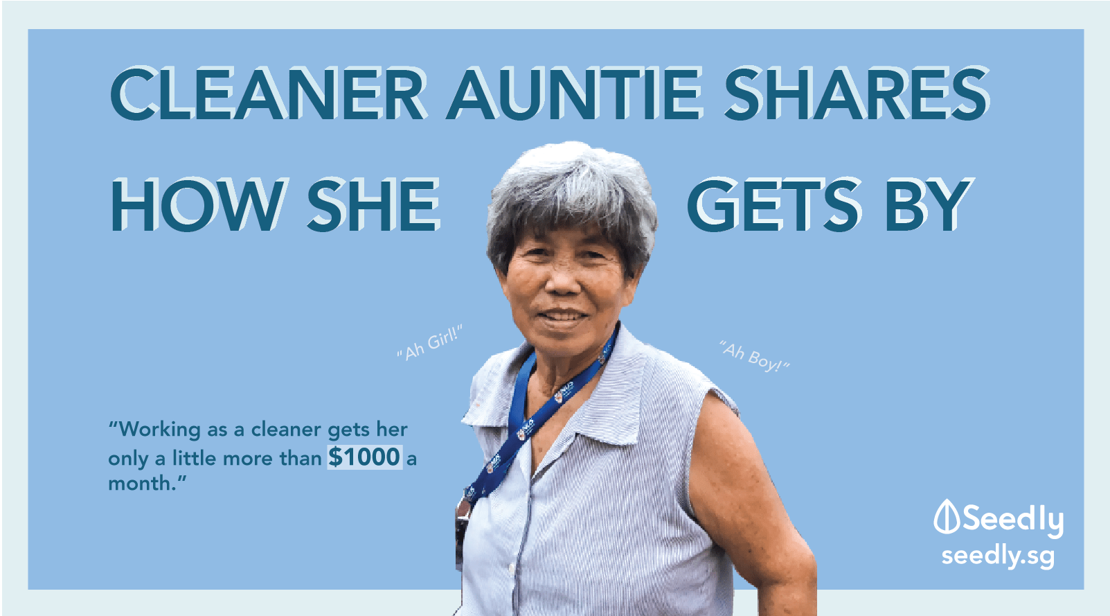 "Taking A Stroll With A Cleaner Auntie: ""If My Hands Stop, My Mouth Stops Too"""