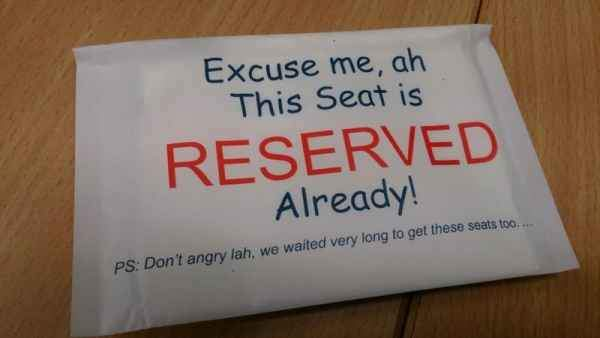 Excuse me, this seat is reserved already.