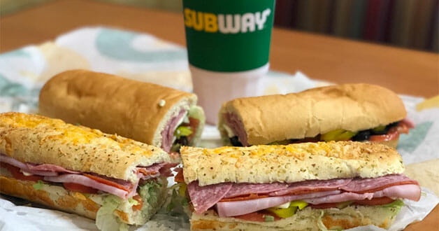 Subway Sandwiches On Table
