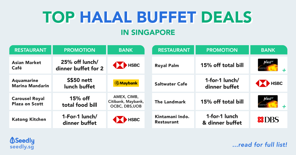 Top Halal Buffets Promotions In Singapore For All Budgets