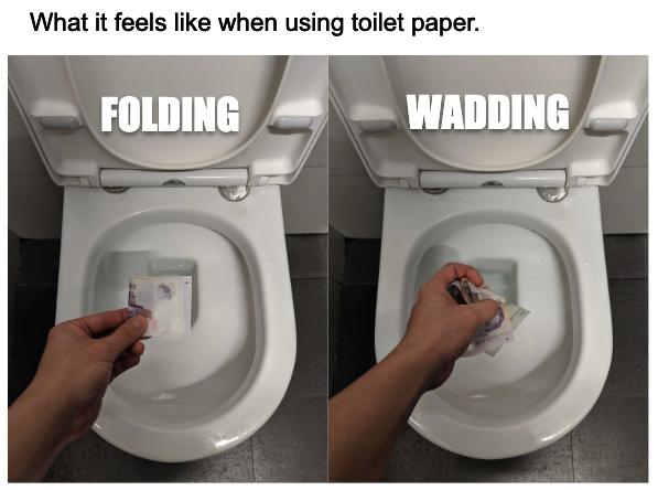 Folding vs Wadding