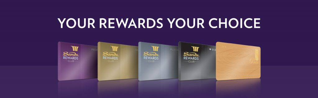 SANDS Rewards club membership tier and requirement