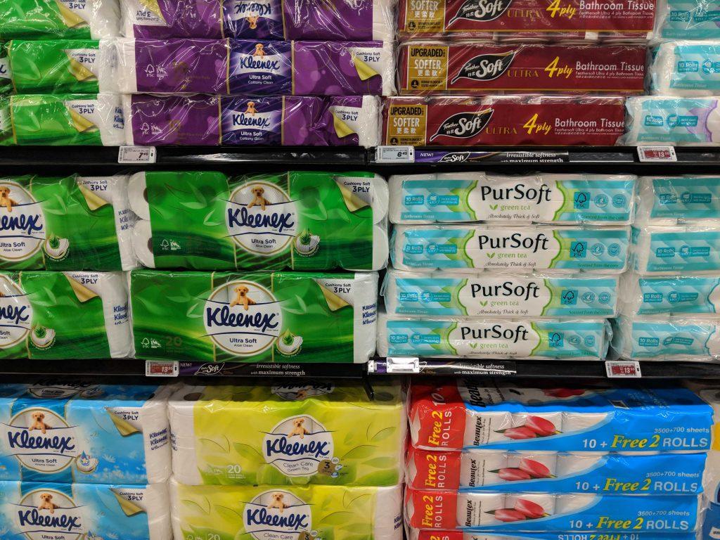 Toilet Paper In Supermarket Aisle