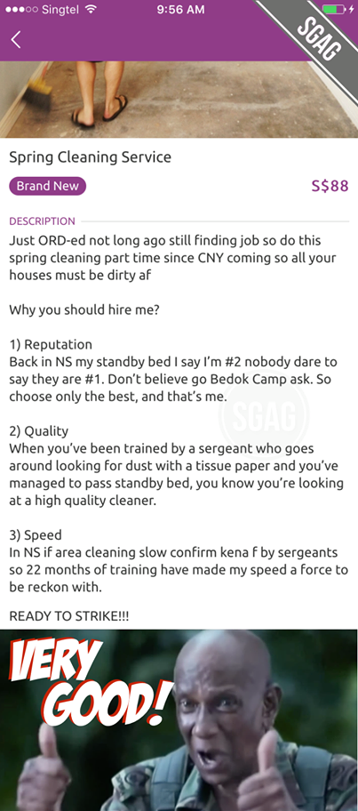 NSF Part Time Cleaner