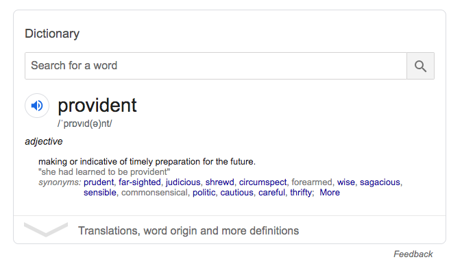 Provident definition