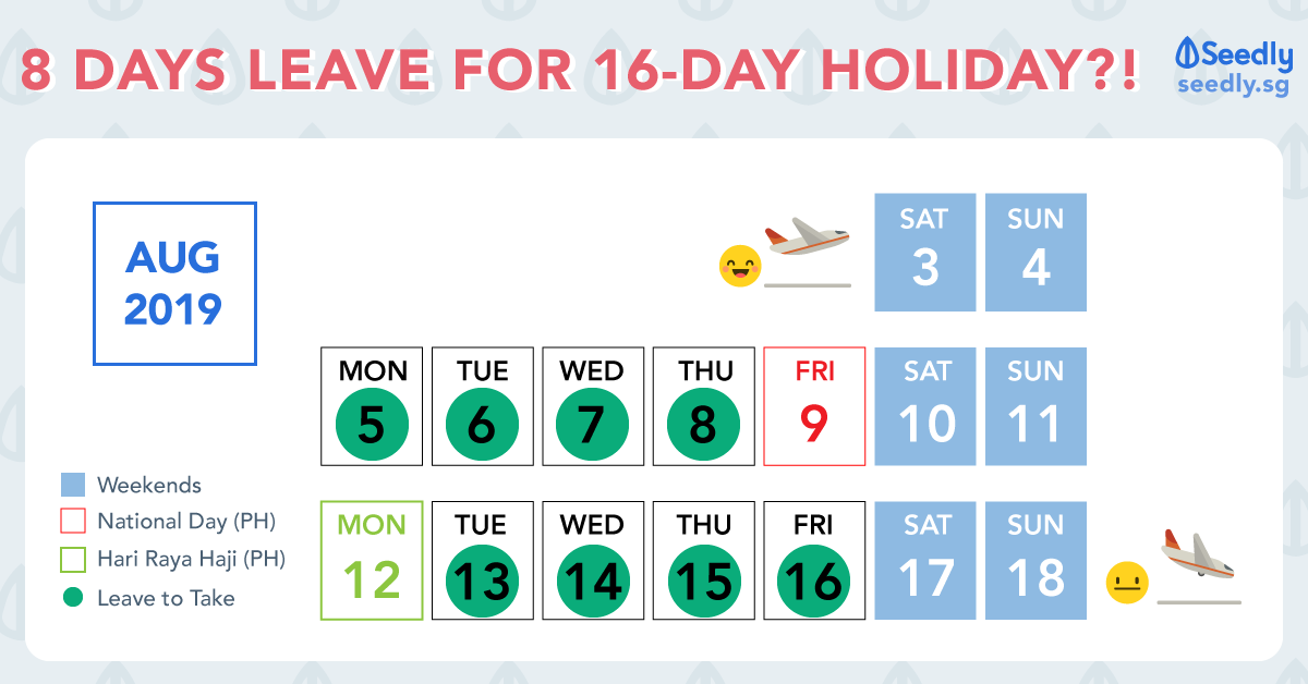 Vacation Hack: 8 Days Annual Leave For 16 Days Off Work