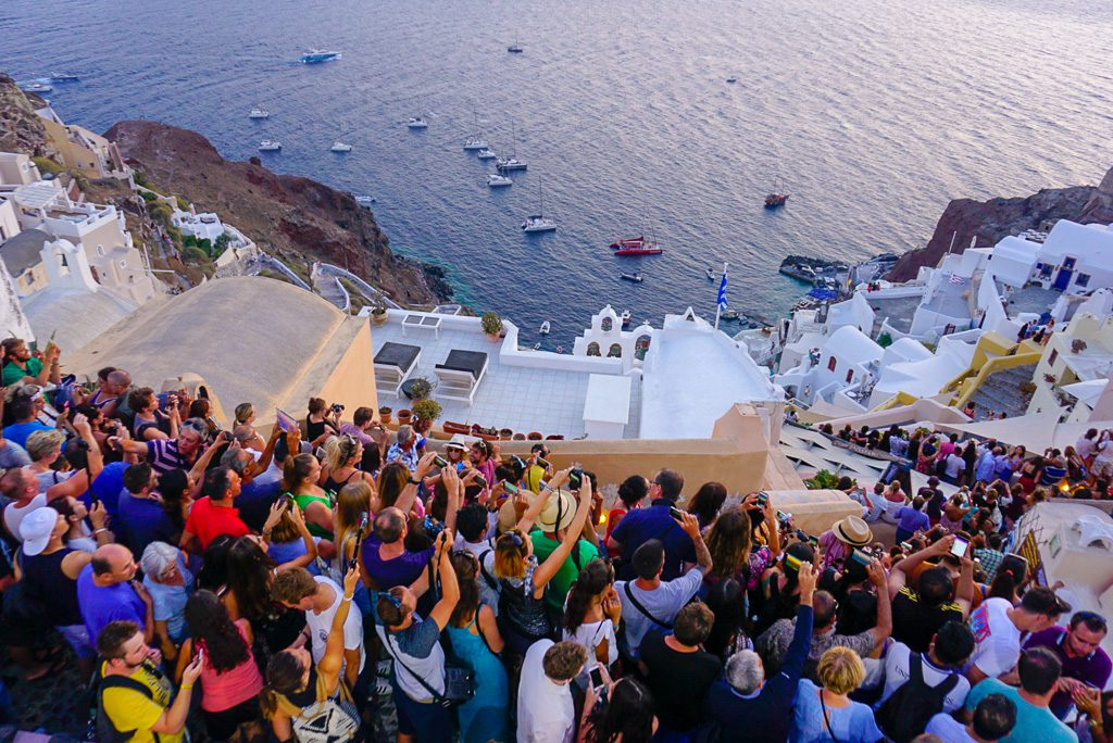 Santorini Crowd