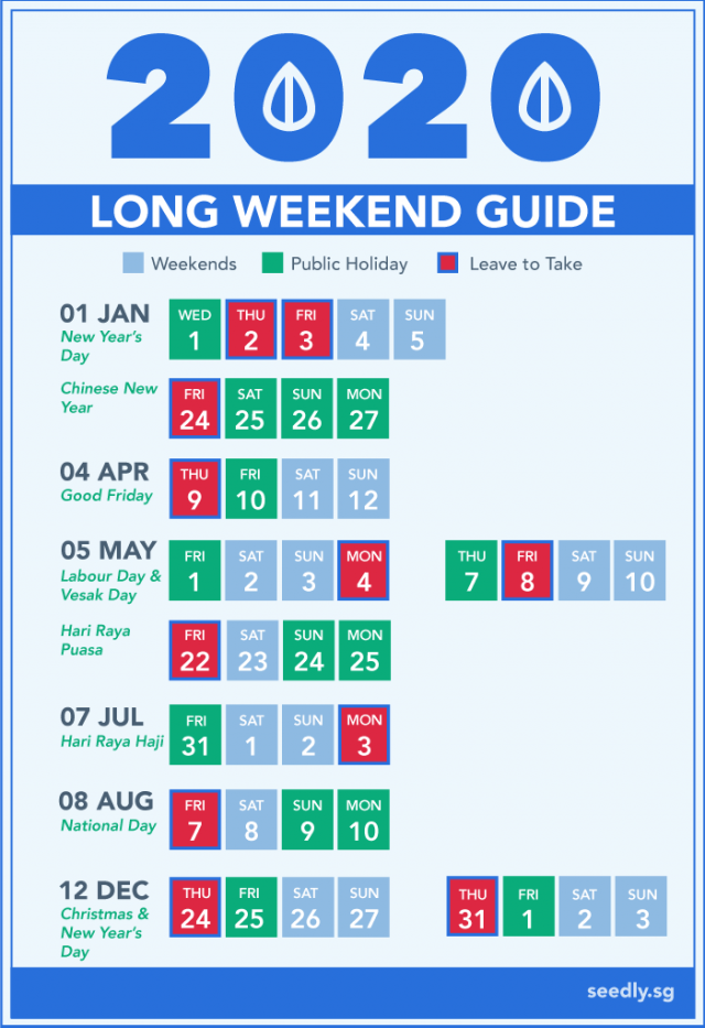 Singapore Public Holidays 2020