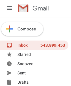 Cluttered Email Inbox
