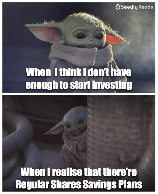 Baby Yoda Finds Out About Regular Shares Savings Plans