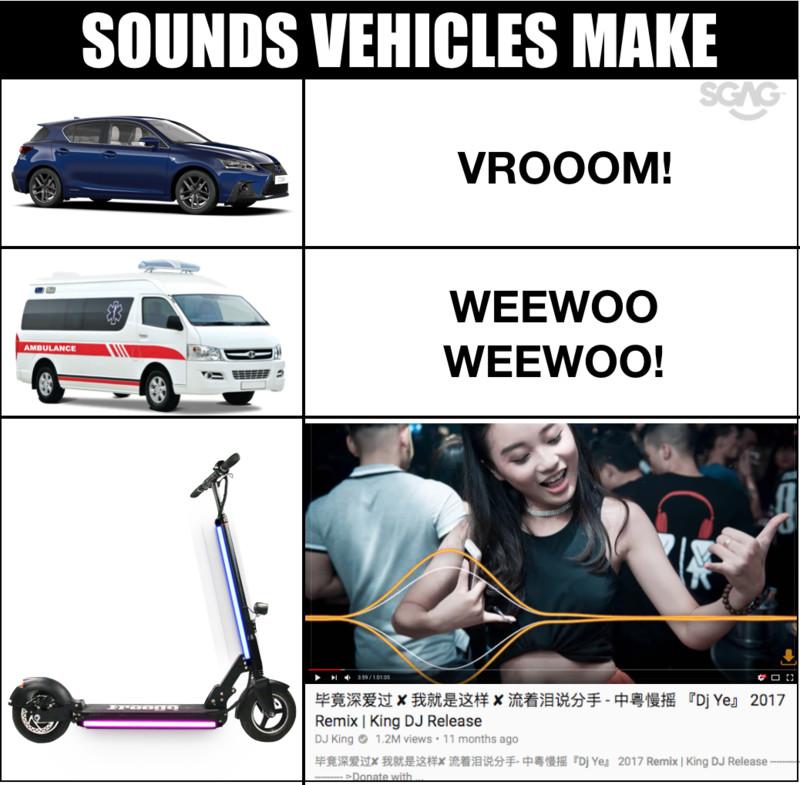 Ah Beng e-scooter blasting manyao