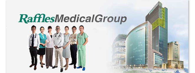 Raffles Medical Group Staff And Building Facade
