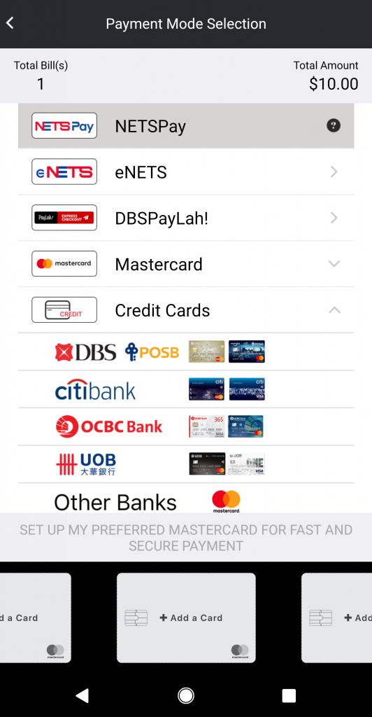 AXS Mobile App Credit Card Payment Utilities