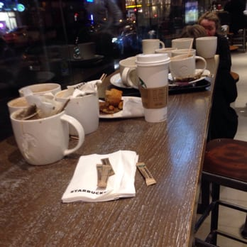 starbucks table not cleared