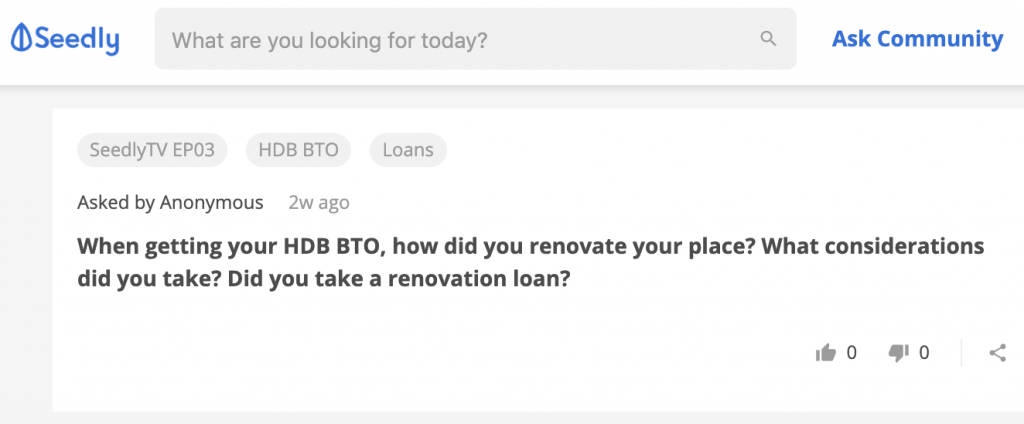 Home Reno Loan Seedly Q&A