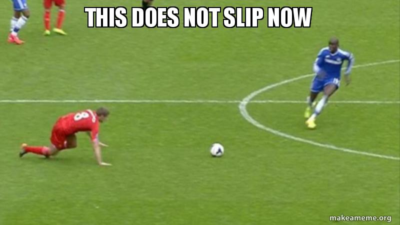 Steven Gerrad slipped