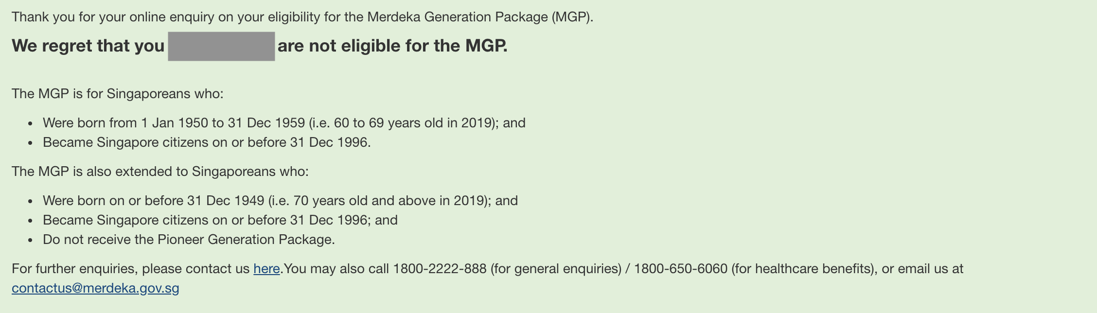 Merdeka Generation Package