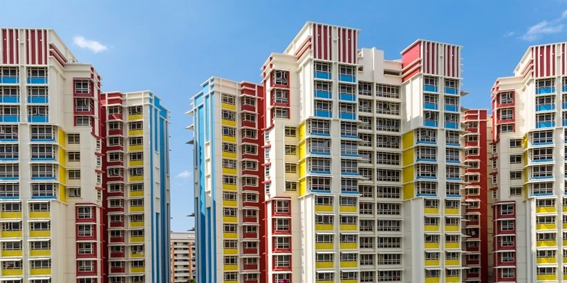 Colourful HDB Flats