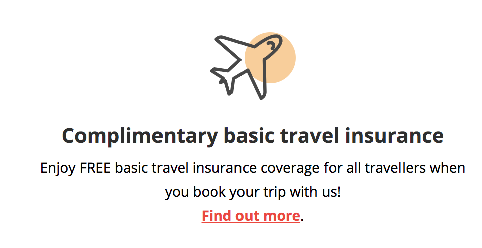 Complimentary basic travel insurance with DBS