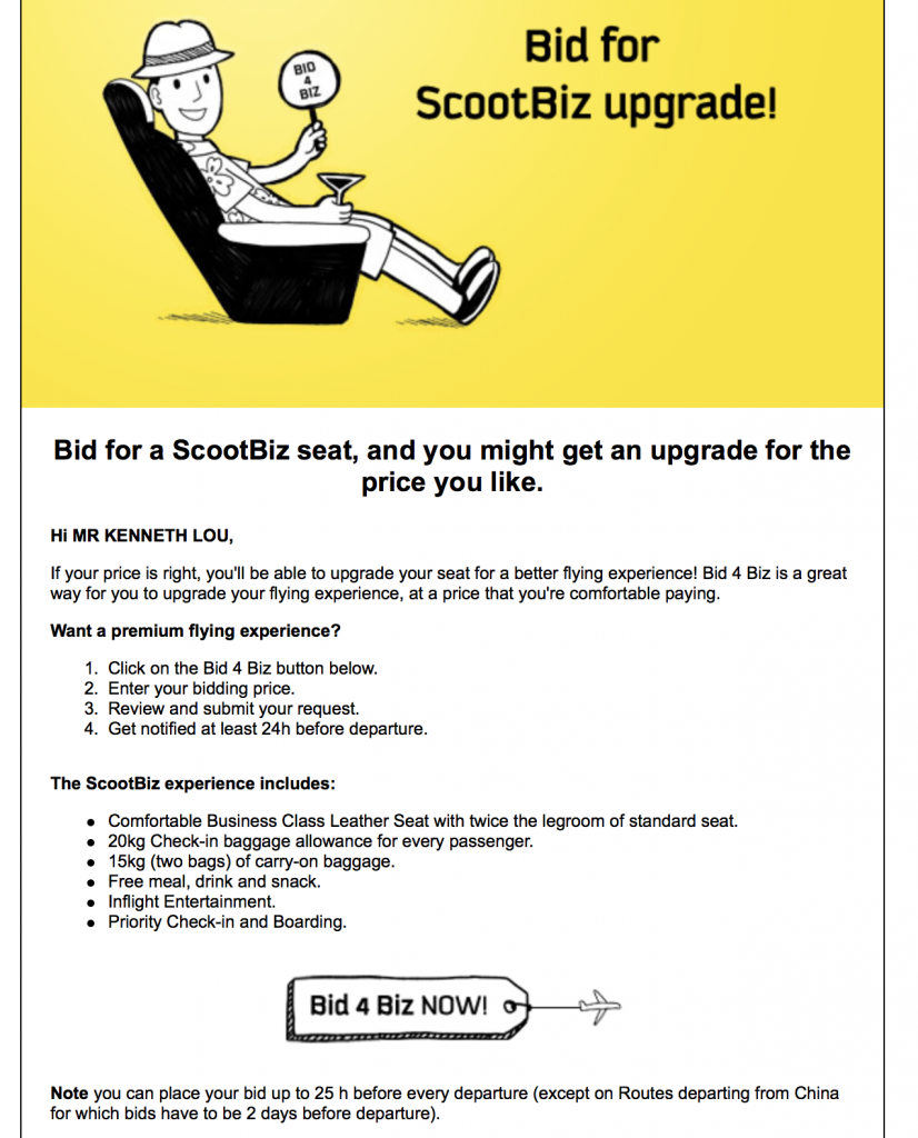 ScootBiz Upgrade Email