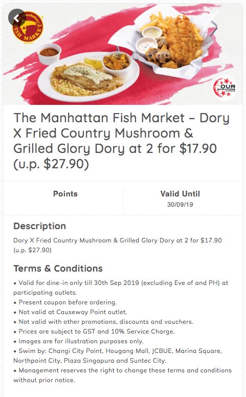 The Manhattan Fish Market NDP Promos dory x fried mushroom