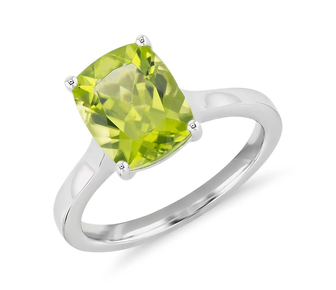 Peridot engagement ring prices