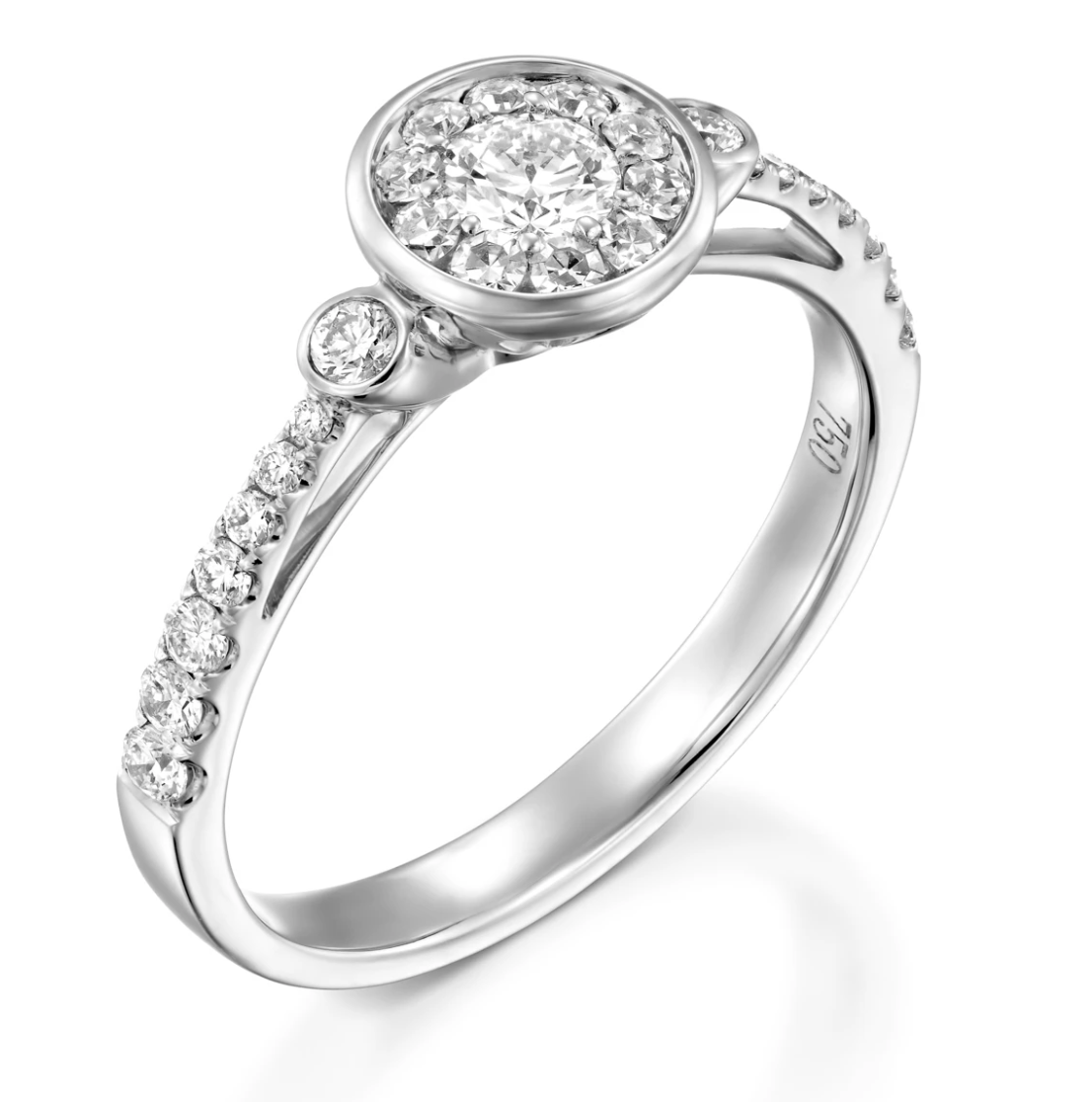Diamond engagement halo