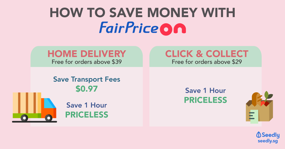 saving money using fairprice on's delivery and click & collect service