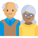 illustration of old couple