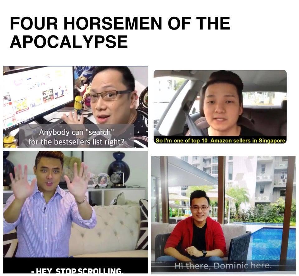 Imran, Andrew Tan, Dominic, Benjamin Singapore youtube ads