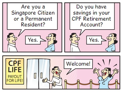 CPF Life Payout for Life Cartoon