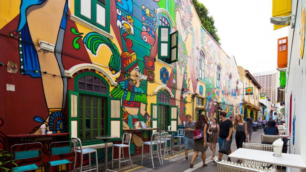 Haji Lane Wall Mural