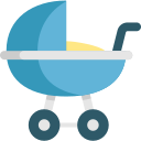 illustration of stroller