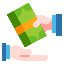illustration of money transaction